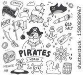 set of cute pirates doodle    Shutterstock .eps vector #1580838967