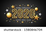 2020 merry christmas and happy... | Shutterstock .eps vector #1580846704