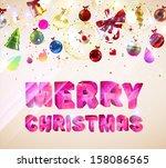 christmas  ard  vector | Shutterstock .eps vector #158086565