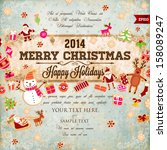 Vintage Christmas Vector With...