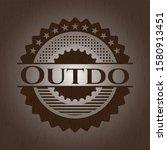 Outdo Retro Style Wood Emblem....