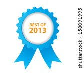 blue best of 2013 badge with...   Shutterstock .eps vector #158091995