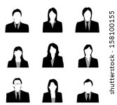face business   Shutterstock .eps vector #158100155