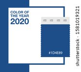 color of the year 2020 classic...   Shutterstock .eps vector #1581019321