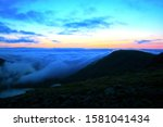 Clouds And Sunrise Over Skafel...