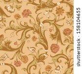 seamless vector light vintage...   Shutterstock .eps vector #158104655