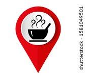 black soup icon. vector... | Shutterstock .eps vector #1581049501