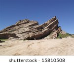 Popular Television Commercial Backdrop, Vasquez Rocks in Southern California - stock photo