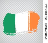 flag  ireland from brush...