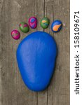 Footprint Of The Feet Made Of ...