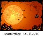 halloween night background with ... | Shutterstock .eps vector #158112041