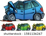 car after a serious accident | Shutterstock .eps vector #1581136267