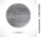 gray ball with the texture of...   Shutterstock .eps vector #158114081
