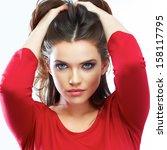 Woman Hair Beauty Portrait....