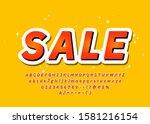 sale font trendy colorful 3d... | Shutterstock .eps vector #1581216154