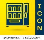 blue vending machine of food...   Shutterstock .eps vector #1581220294