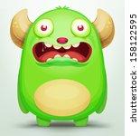 cartoon monster   Shutterstock .eps vector #158122595