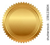 vector illustration of gold seal | Shutterstock .eps vector #158123834