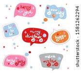 winter holiday color speech...   Shutterstock .eps vector #1581262294