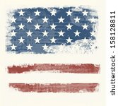 grunge flag of the usa | Shutterstock . vector #158128811