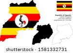republic of uganda  jamhuri ya... | Shutterstock .eps vector #1581332731