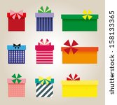 set of colorful presents | Shutterstock .eps vector #158133365