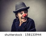 Portrait Of A Funny Clown With...