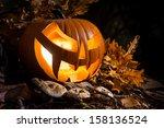 Halloween Pumpkin Outdoors Wit...