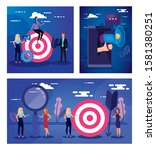 target smartphone and people... | Shutterstock .eps vector #1581380251