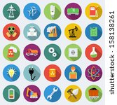 set of industrial icons in flat ... | Shutterstock .eps vector #158138261