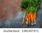 Fresh Carrots Bunch  On A...