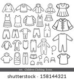 set of children clothing.... | Shutterstock .eps vector #158144321