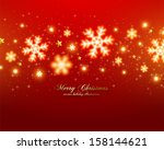 christmas background with... | Shutterstock .eps vector #158144621