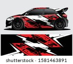 rally car decal graphic wrap... | Shutterstock .eps vector #1581463891