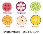 drawing cartoon fruit such as... | Shutterstock . vector #1581473644