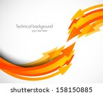 abstract background with arrows | Shutterstock .eps vector #158150885