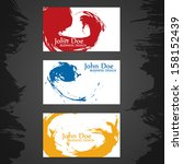 grunge business card. vector... | Shutterstock .eps vector #158152439