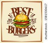 best burgers  fast food menu... | Shutterstock . vector #1581530617