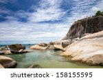 blue sea and blue sky | Shutterstock . vector #158155595