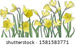 Art Bouquet Of Yellow Narcissu...