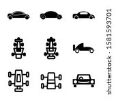 car icon isolated sign symbol...