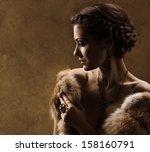Woman In Luxury Fur Coat....