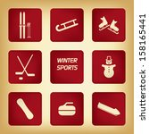 winter sport pictograms with...