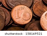 One Euro Cent Coin  Close Up...