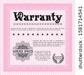 object opink warranty. easy to ...   Shutterstock .eps vector #1581714541