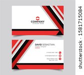 modern and clean business card...   Shutterstock .eps vector #1581715084