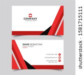 modern and clean business card...   Shutterstock .eps vector #1581715111