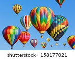 colorful hot air balloons... | Shutterstock . vector #158177021