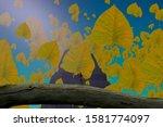 leaf. nature. imaginary world...   Shutterstock . vector #1581774097