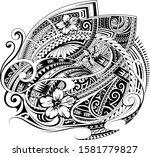 ethnic print design for fabric...   Shutterstock .eps vector #1581779827